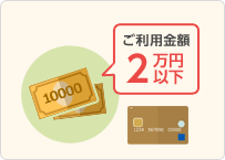 Point3:半数以上のお客様は1回のご利用金額が2万円以下の図