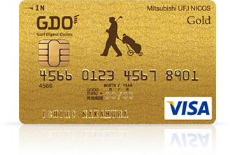 GDO MUFG CARD Gold  Visa 券面