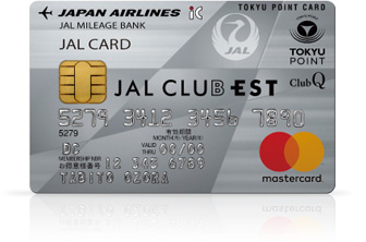 JAL CLUB EST 普通カード(JALカード TOKYU POINT ClubQ MasterCard) 券面
